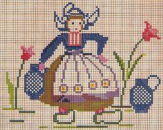 Cross stitch - Dutch girl