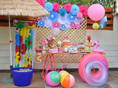 Stop by our web page for a good deal more information on this extraordinary photo Flamingo Birthday, Luau Birthday, Barbie Birthday, 2nd Birthday Parties, Pool Party Kids, Luau Party, Beach Party, Minie Mouse Party, Daisy Party