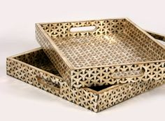 Capiz Trays from C.S. Post & Co.