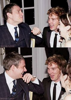 Ben with Martin & Amanda. Oh, to be a fly on the wall at that conversation! Somebody looks a little tipsy...