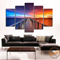 5 Panel Japan Fuji Mountain Landscape Painting Wall Art Canvas ...