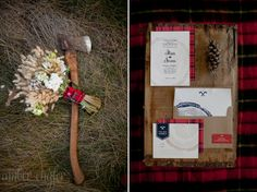 Styled Wedding - Lumberjack Glam Theme - Amber Engfer Photography | Amber Engfer Photography EVERYTHING. IN. THIS. POST