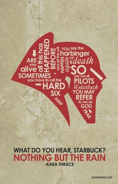 Battlestar Galactica Inspired Quote Poster by OutNerdMe on Etsy