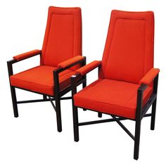 Pair Of Edward Wormley For Dunbar Lounge Arm Chairs