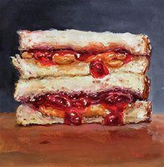 "Daily Paintworks - ""PB& J E L L Y!  (#29)"" - Original Fine Art for Sale - © Sunny Avocado"