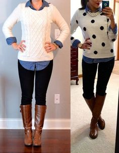 6_Look de Inverno_look de inverno para o trabalho_calça legging_blusa de lã com camisa jeans_