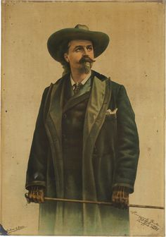"""Buffalo Bill"" Cody, Tin Lithograph Sign, Advertising Sign"