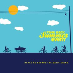 Take Back Your Summer with our deals for the Labour Day, Illustration Art, Illustrations, Take Back, Travel Deals, Long Weekend, Product Launch, Summer, Summer Time
