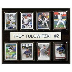 C and I Collectables MLB 15W x 12H in. Troy Tulowitzki Colorado Rockies 8 Card Plaque - 1215TULO8C