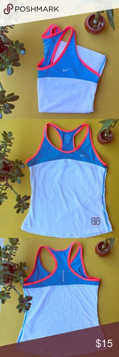 """Nike dri fit muscle tee Nike dri fit muscle tee .  No rips or stains 🚫 Great for exercise or that sport chic look. Nike never goes out of style . Check out my other Nike listings in my closet . Don't forget to use the """"bundle feature"""" for extra discounts. 💕💕 SAME day shipping📦 Nike Tops Muscle Tees"""