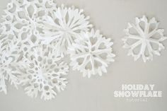 the pink couch: Holiday Snowflakes- photo tutorial from coffee filters