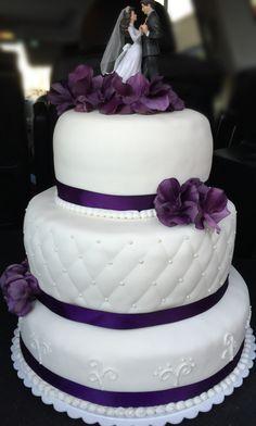 Wedding cake -purple