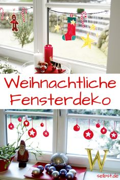 Advent: Fensterdeko basteln You don't have to tinker with Christmas decorations. For this window decoration you only need an edding and an hour! Christmas Diy, Christmas Decorations, Christmas Ornaments, Holiday Decor, Art Halloween, Navidad Diy, Decoration Table, Coastal Decor, Diy For Kids