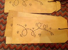Paper tags......ofgfaap by hootnanniesbyjeanne on Etsy, $2.50