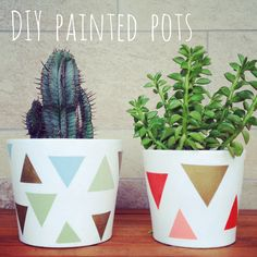 #DIY #succulents #painted #pots #planters.