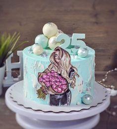 Candy Birthday Cakes, 18th Birthday Cake, Birthday Cakes For Women, Birthday Cake Girls, Beautiful Birthday Cakes, Beautiful Cakes, Amazing Cakes, Cake Frosting Designs, Cake Designs