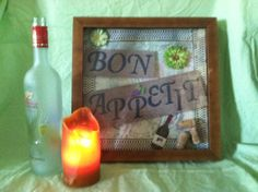 Bon Appetit Shadow Box via Etsy