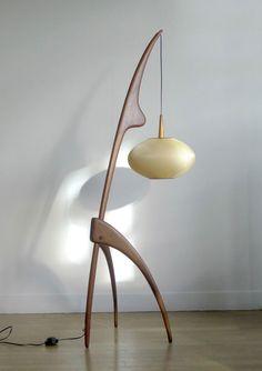 Rhan Vintage. Mid Century Modern Blog.: Incredible Mid Century Rispal France Floor Lamp