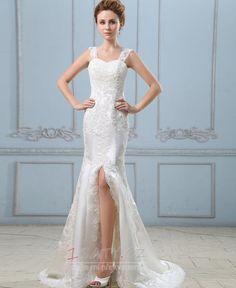slonová+kost+Bez+rukávů+stydlivý+obdélník+Tlačítka+Svatební+šaty