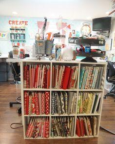 Easy & inexpensive Fabric Storage tutorial