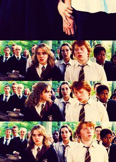 Hermione and Ron Theme Harry Potter, Harry Potter Ships, Harry Potter Quotes, Harry Potter Love, Harry Potter Universal, Harry Potter Fandom, Harry Potter World, Albus Dumbledore, Draco