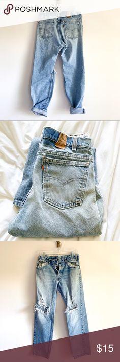 7ed4cb56c51 LEVI'S - distressed vintage men's Levi jeans Vintage look Marks, holes, etc  vary Perfect