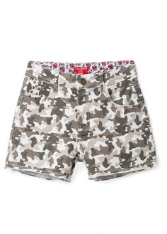 Camo print shorts for summer from CASTRO's July Lookbook