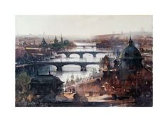 Dusan Djukaric - Watercolor, Praque