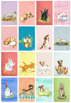 cat and dog planner stickers