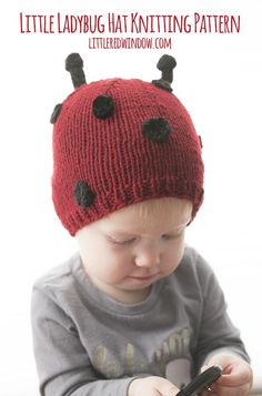 Usher in summer with this adorable knit ladybug hat. What a perfect pattern for your little lovebug!