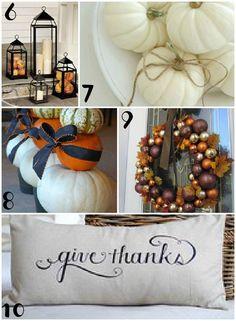 Honey We're Home: TOP 10 Pinterest Fall Inspiration - September, 2012.   http://honeywerehome.blogspot.com/2012/09/top-10-pinterest-fall-inspiration.html