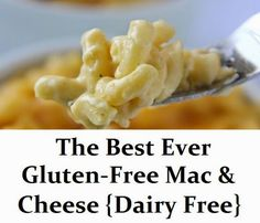 GlutenAway: The Best Ever Gluten Free Mac & Cheese {Dairy Free} - added half tsp more of garlic and a full cup of coconut cream instead of almond milk! Made the noodles and sauce separately to save better. Would be good with a bit of butter and bacon too! Lactose Free Recipes, Dairy Free Diet, Allergy Free Recipes, Gf Recipes, Gluten Free Cooking, Vegan Gluten Free, Easy Recipes, Dinner Recipes, Lunch Recipes