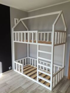 Baby Bedroom, Girls Bedroom, Kid Beds, Bunk Beds, Kids Bed Design, Diy Toddler Bed, Loft Bed Plans, Study Room Decor, Cool Kids Rooms