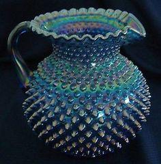 carnival glass photo - Google Search Glass Jug, Glass Pitchers, Cut Glass, Milk Glass, Fenton Glassware, Antique Glassware, Glass Photo, Carnival Glass, Glass Collection
