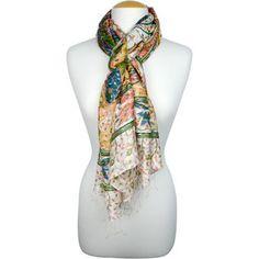 Take a Bough Scarf Green Flowers, Fair Trade, Shawls, Handicraft, Summer Wedding, Pink And Green, Scarves, Artisan, Take That