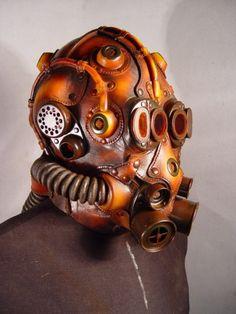 Thirteen Recycled Steampunk Gas Masks   1800Recycling.com