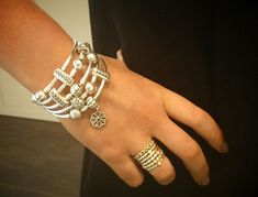 Stack the new Pandora bangles for a super cute look! Come visit us in  Oceanside