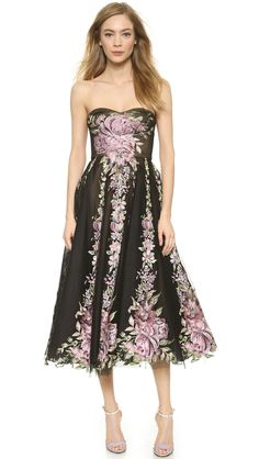 Marchesa Tulle Cocktail Dress with Full Skirt