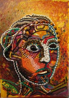 'Venus of Beads' painting, by MAIA OPREA, more on www.maia-fine-art.com