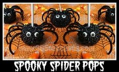 Spooky Spiders pops