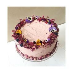 Beautiful flower petal cake