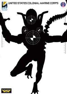 Alien silhouette target