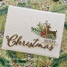 Aromas and Art - Page 4 of 123 - Su Mohr, Independent Stampin' Up! Demonstrator, and Independent Young Living Distributor Homemade Christmas Cards, Merry Christmas To All, Stampin Up Christmas, Christmas Cards To Make, Christmas Deer, Xmas Cards, Christmas Greetings, Homemade Cards, Handmade Christmas