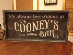lake house serving tray  personalized with your own by kspeddler, $50.00