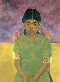Portrait of Virginia (Nina) By Frida Kahlo, 1907-1954, Mexican.
