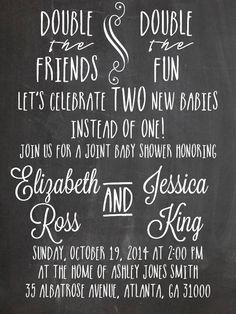 Double Baby Shower Invitation Idea