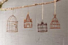 5-1/2H Wire Hanging Birdcage, 4 Styles