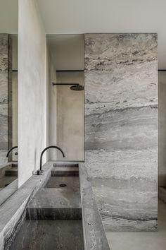 Wc Bathroom, Laundry In Bathroom, Modern Bathroom, Bathrooms, Interior Garden, Gray Interior, Bathroom Interior Design, Bad Inspiration, Bathroom Design Inspiration