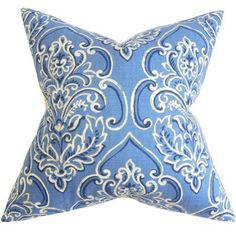 The Pillow Collection Yonah Floral Throw Pillow Cover Color: