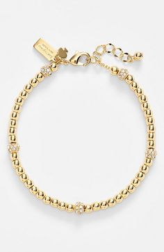 kate+spade+new+york+'how+charming'+beaded+bracelet+available+at+#Nordstrom